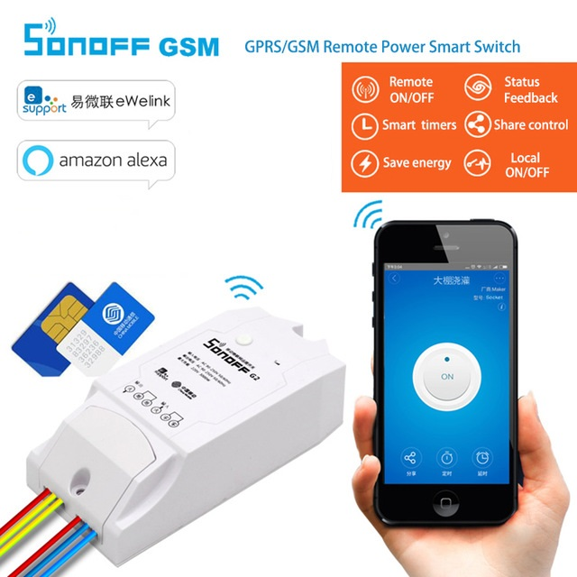 Sonoff GSM- Умный Дом GPRS/GSM Выключатель